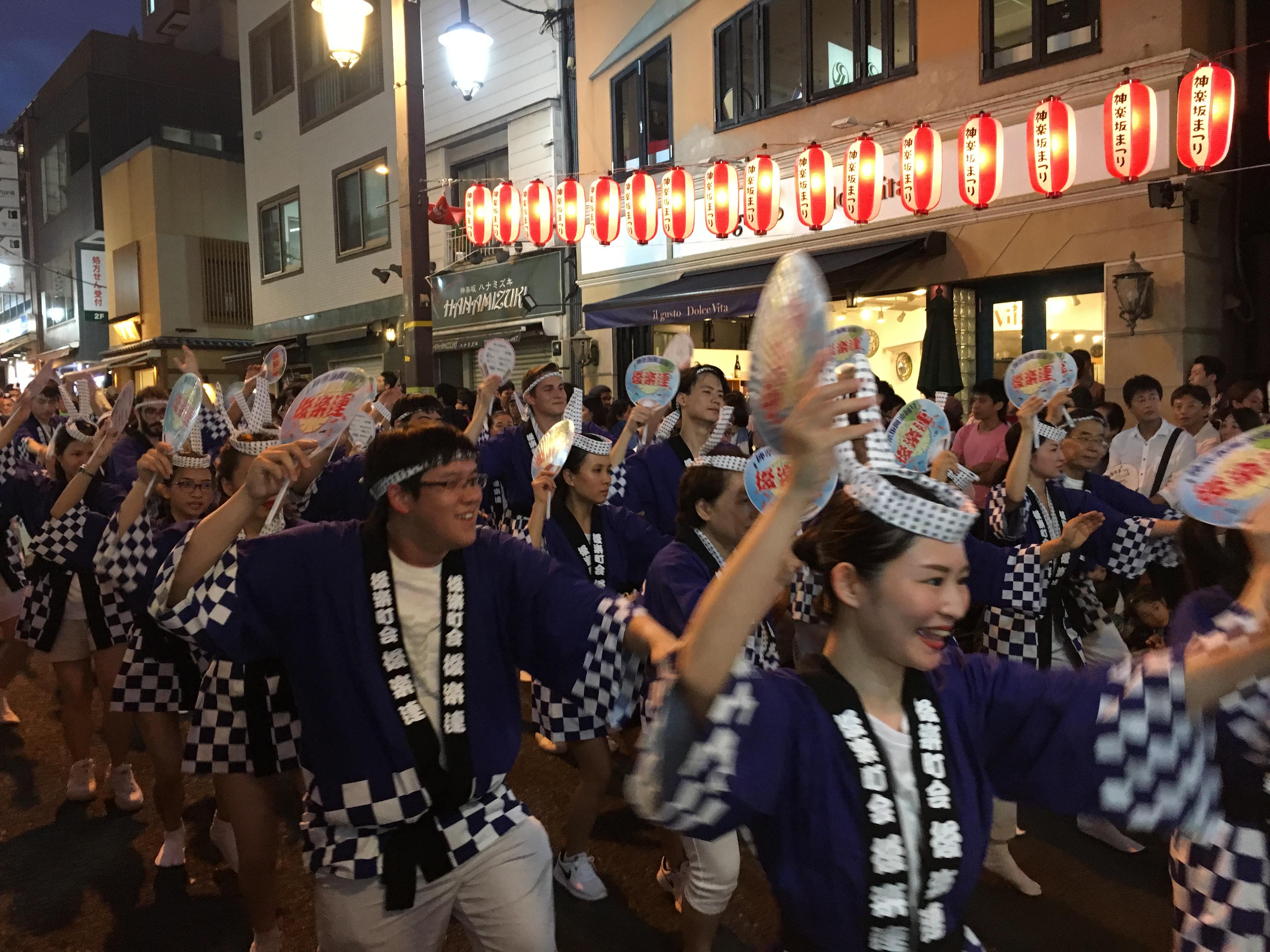 2018年神楽坂まつりの阿波踊りに参加しました