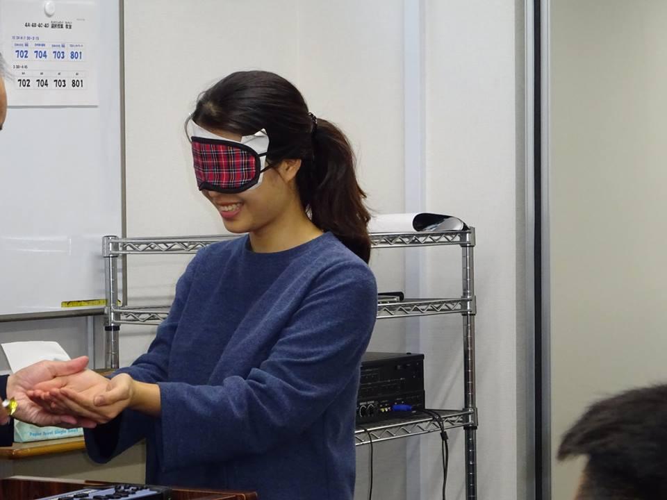 東京都立文京盲学校の先生による特別講義